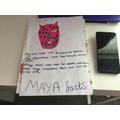 Scott: Paige F -Eye-catching Mayan mask and facts