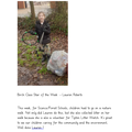 Birch:  Lauren - For carrying out volunteer work by litter picking in the local community!
