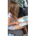 Thistle:  Jessie B - Enjoying your reading time!