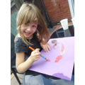 Rose:  Sophie K - a budding artist at work