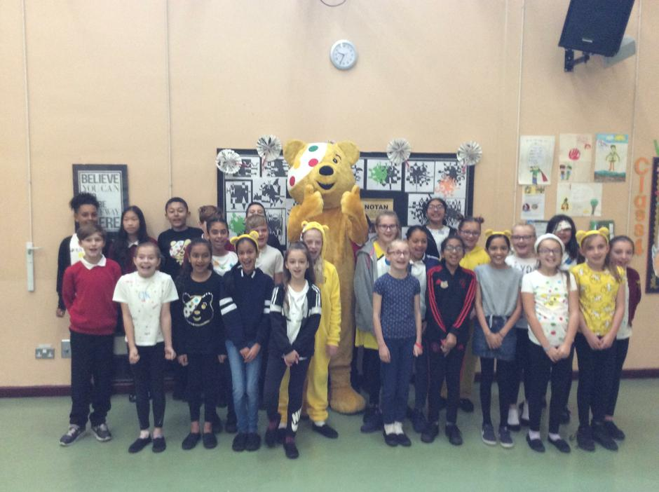 Pudsey Bear pays us a visit!