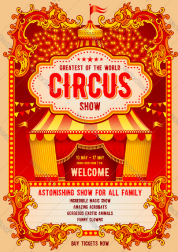 Example of circus poster