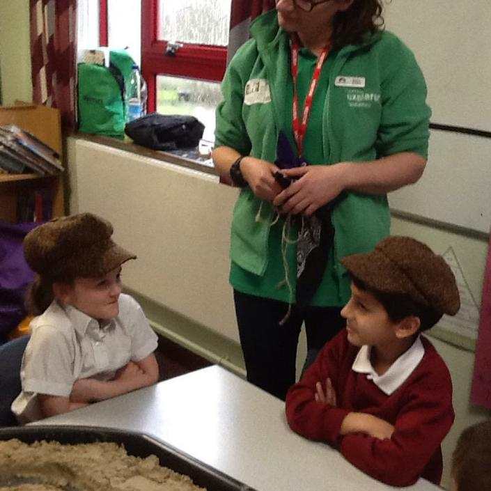 Children working with The Rivers Trust