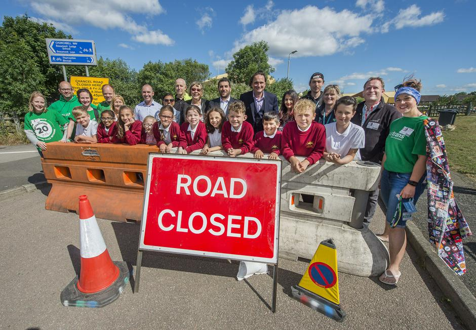 Road Closed for Clean Air Day
