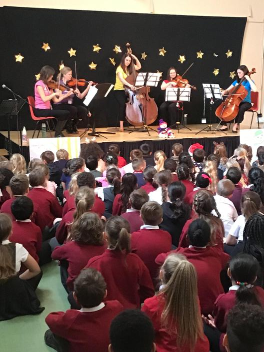 String Quartet perform numbers from 'The Snowman'