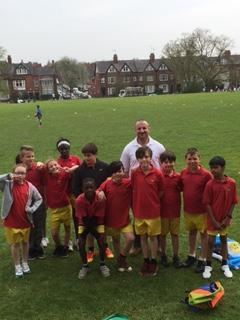 The Tag Rugby squad with George Schuter