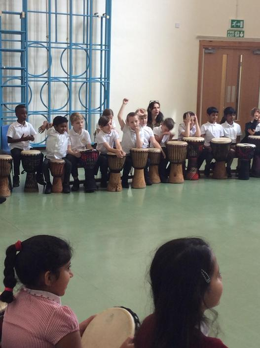 More djembe drumming!
