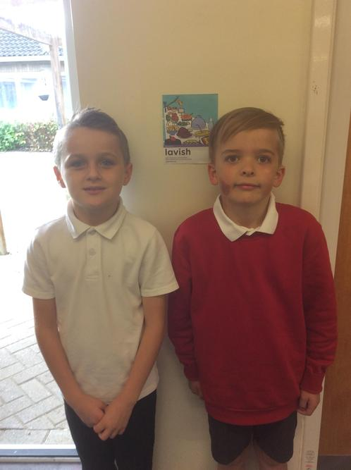 These two boys have made a winning team. They work brilliantly together!