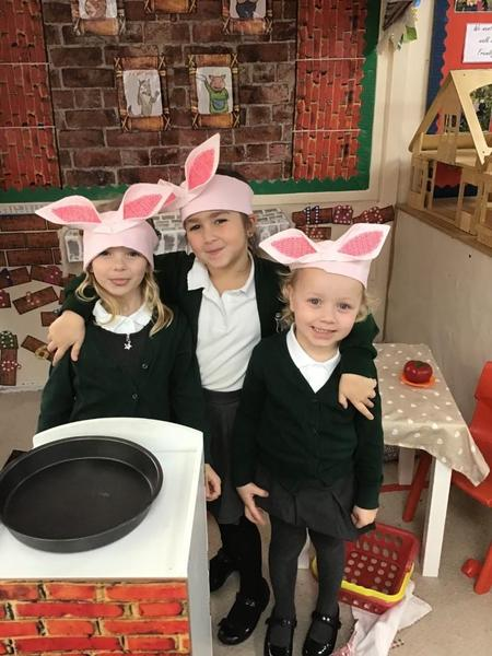 Our role play area... the three little pigs house