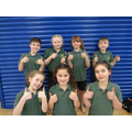 Some pupils took part in a gymnastic competition.