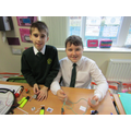 We investigated electricity and built circuits.
