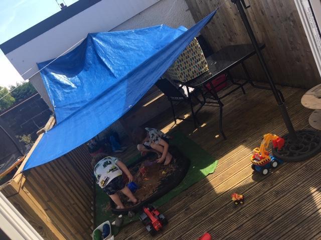 We built a shelter!