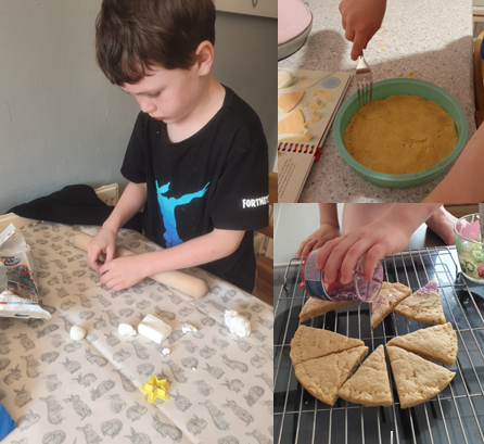 Jacob baking some tasty treats.