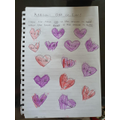Lacey-Mai created her own heart maths!