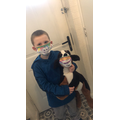 Noah designed his own mask to go on the train