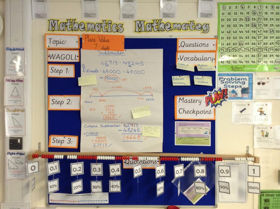 Numeracy place value and subtraction 6G