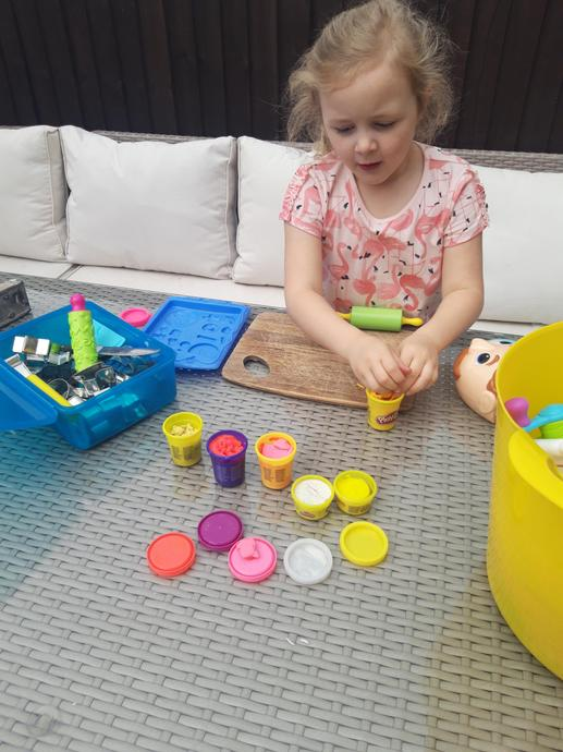 Playing with playdough
