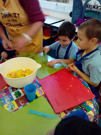 Cutting our fruit-use the 'claw' please!
