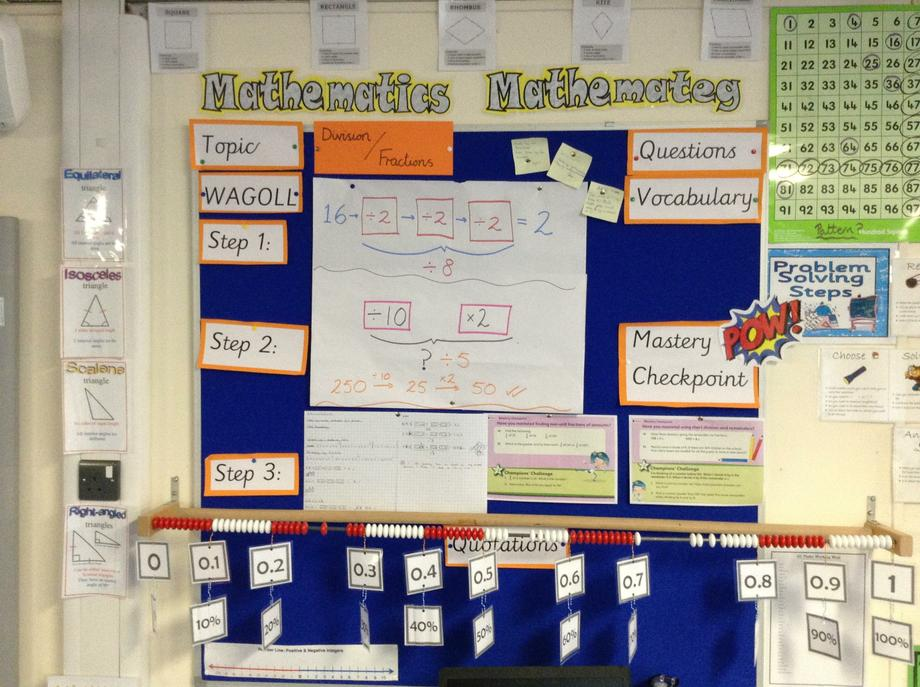 Numeracy division and fractions 6G