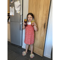 Amelia made her own lava lamp! Cool!