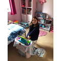 Payton set up her own shop in her bedroom