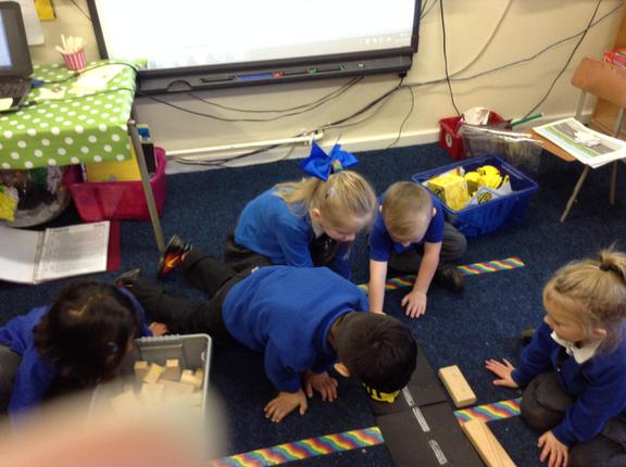 Team work with the Beebots.