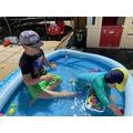 Fun in the sun for Josh & his brother