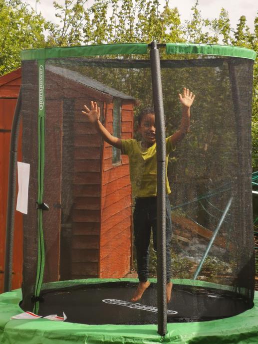 Fun on my trampoline!
