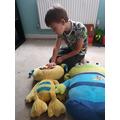 Lucas has been measuring his toys