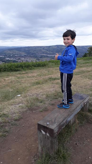 A beautiful view at the top of Caerphilly mountain