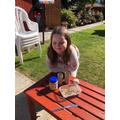 Payton made her own bird feeder