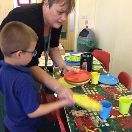 Mrs Tapper lending a hand