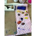 Sophia painted rocks to share around Pentwyn.
