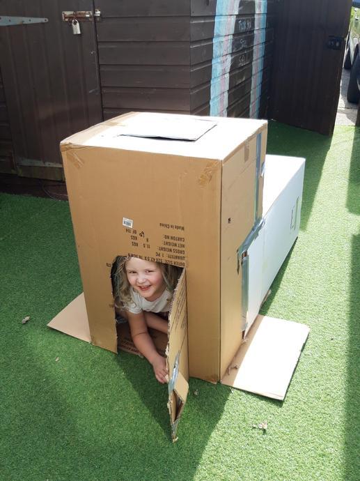 I built a den!