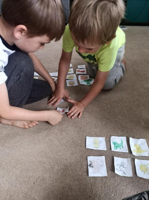 Playing pairs with his brother