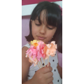 Helen made these lovely paper flowers