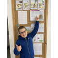 Josh was proud of being STAR of the week.