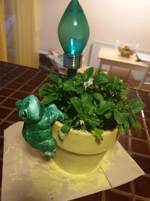 Painting plant pots