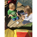 Josie has been painting rocks with her brother too