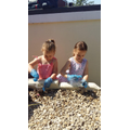 Heidi & her sister have been planting at home