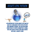 Resa's epic potion advert.