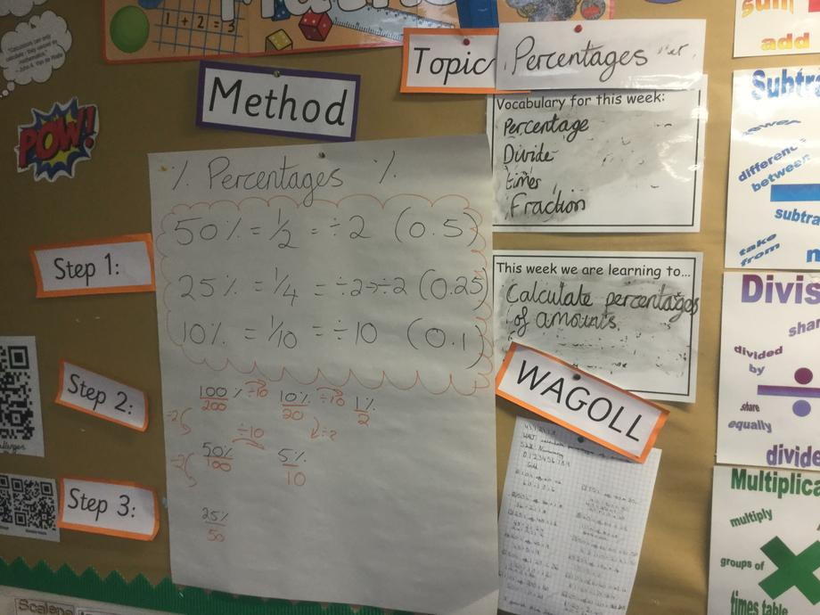Numeracy percentages 6S