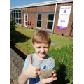 Lucas has been finding painted stones on his walks