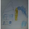 Taylor has moved to a new house- he draw a picture