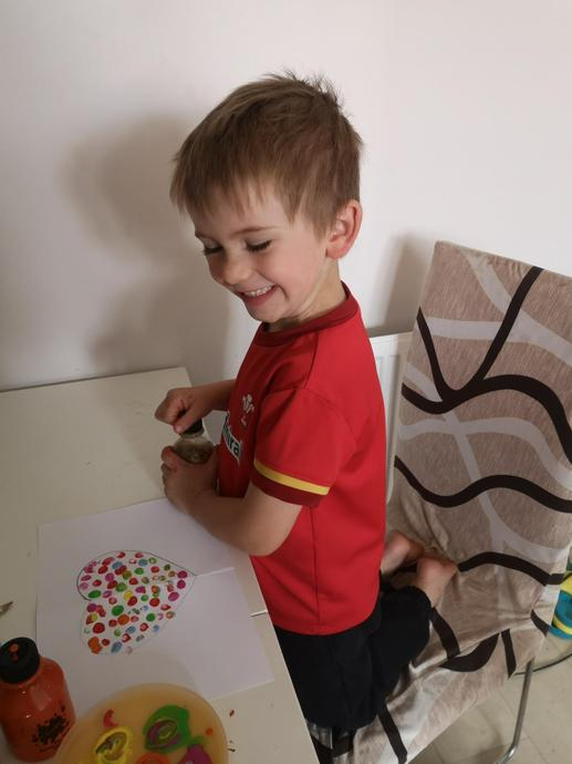 A lovely finger painted heart
