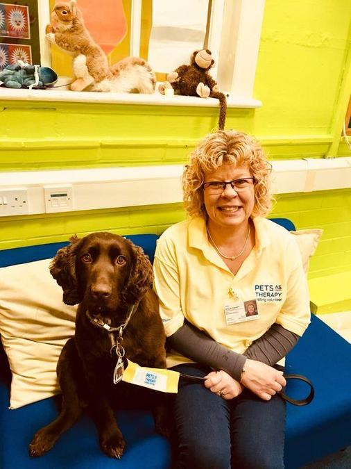Our PAT dog Tom and his handler Jane