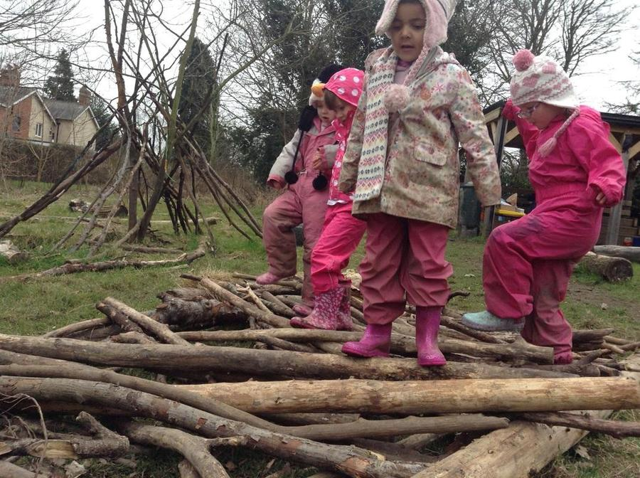 Willow class boldly navigate the wooden road.