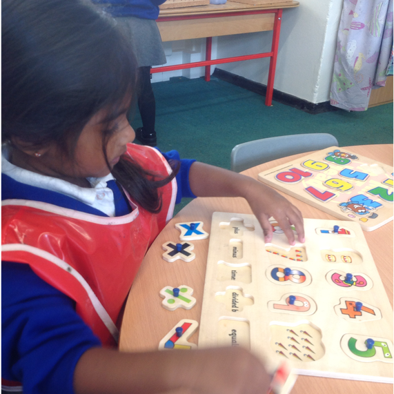 Completing number puzzles
