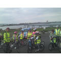 easter family ride, concrete barges on way to RSPB