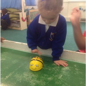 Directing a Beebot using positional language